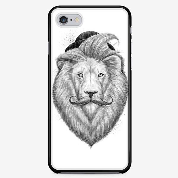 Чехол iPhone «Лев хипстер»