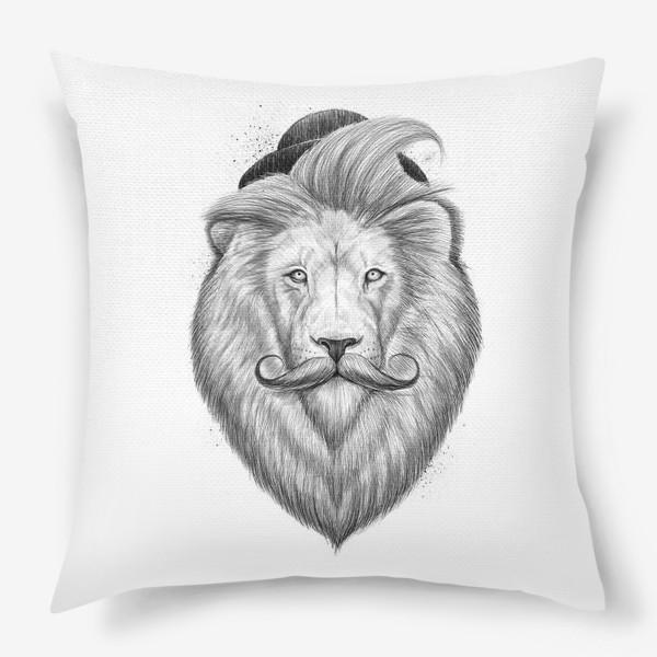Подушка «Лев хипстер»