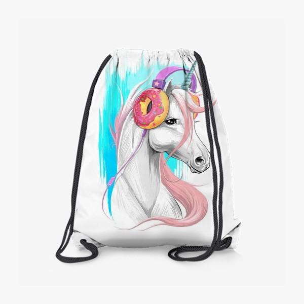 Рюкзак «Единорог в наушниках»