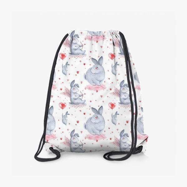 Рюкзак «Влюбленные зайцы2 (заяц, кролик, любовь, сердце)»