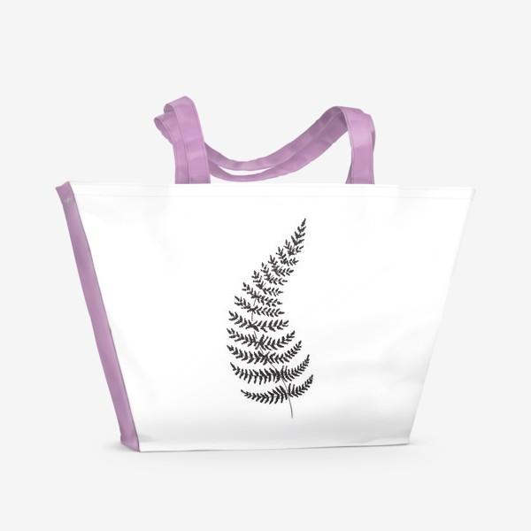 Пляжная сумка «Папоротник»