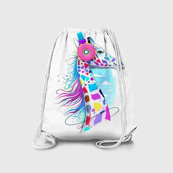 Рюкзак «Жираф в наушниках»