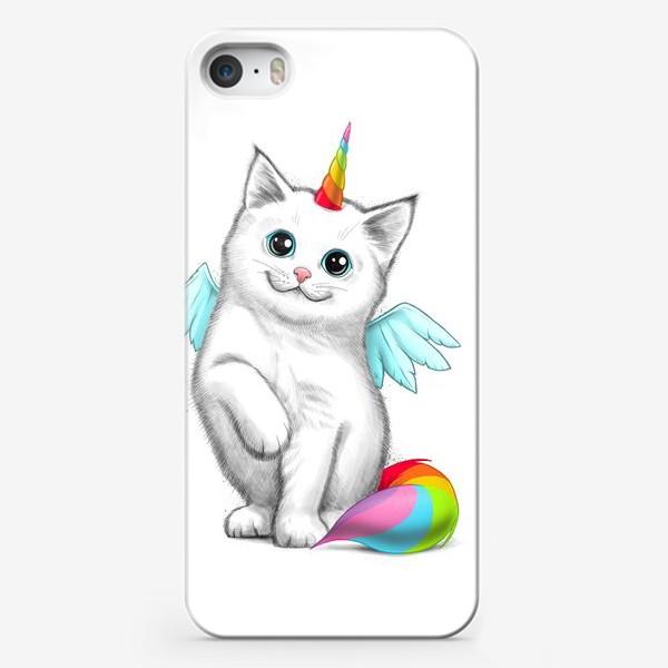 Чехол iPhone «Кот Единорог»