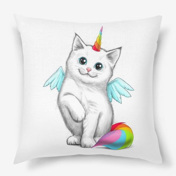 Подушка «Кот Единорог»