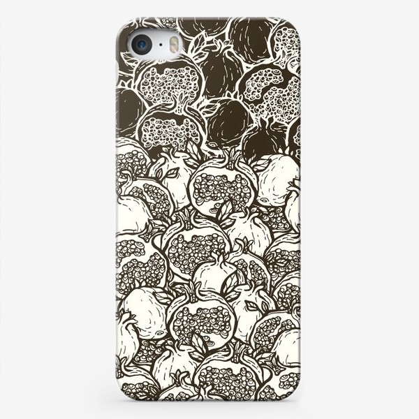 Чехол iPhone «Graphic pomegranates»