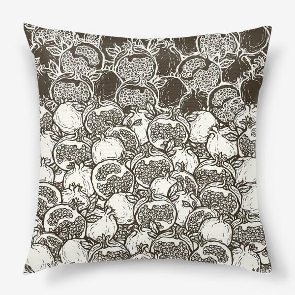 Подушка «Graphic pomegranates»