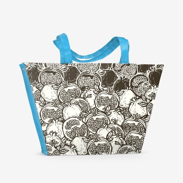 Пляжная сумка «Graphic pomegranates»