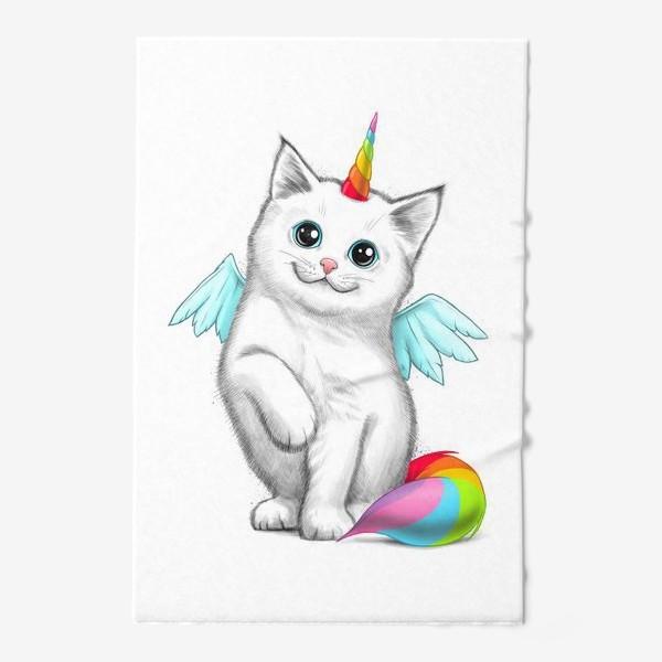Полотенце «Кот Единорог»