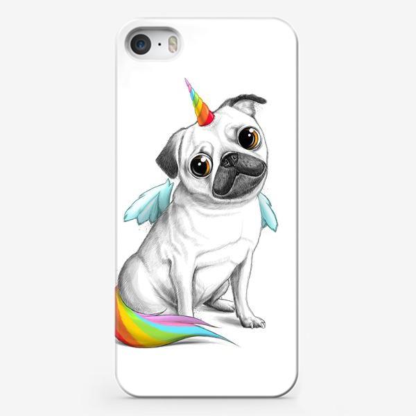 Чехол iPhone «Мопс Единорог»