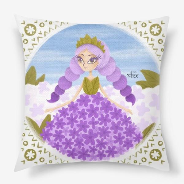 Подушка «Девочка-сирень»