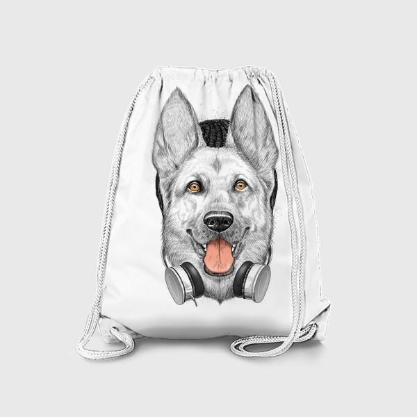 Рюкзак «Овчарка меломан»