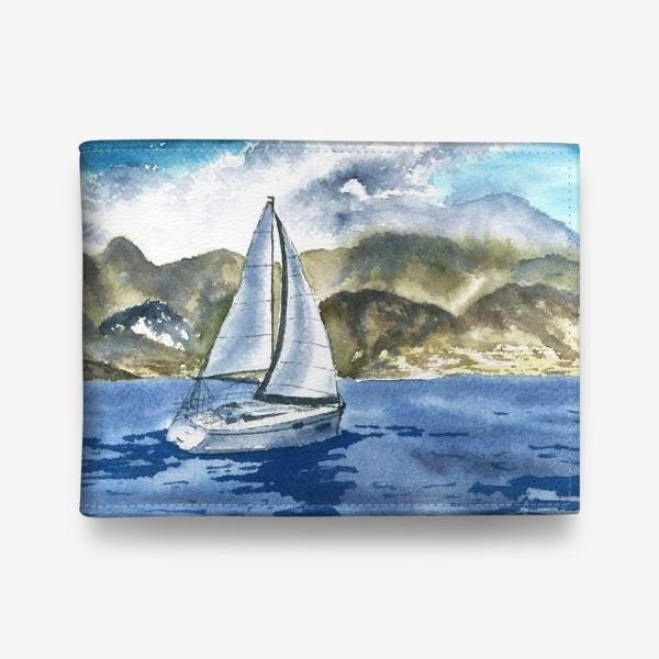 Кошелек «Пейзаж: Яхта у горных берегов»
