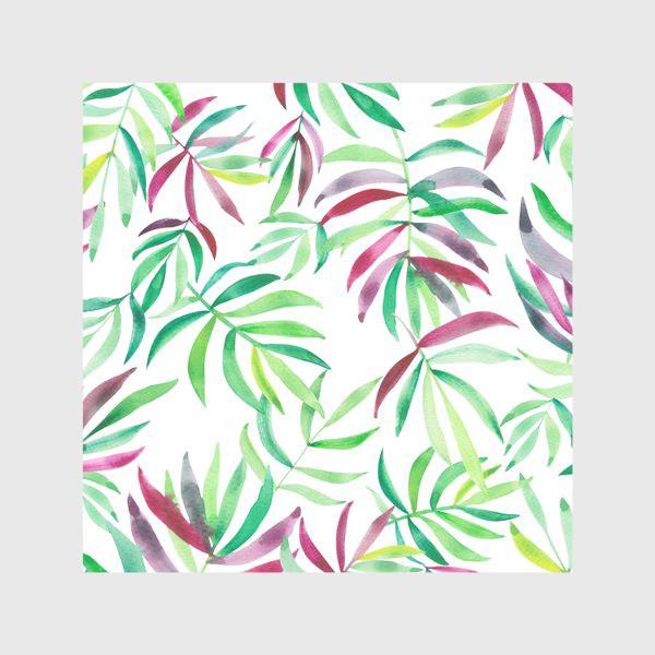 Скатерть «Акварельные тропики. Листья»
