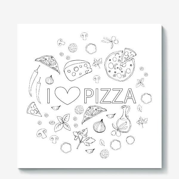 Холст «Пицца»