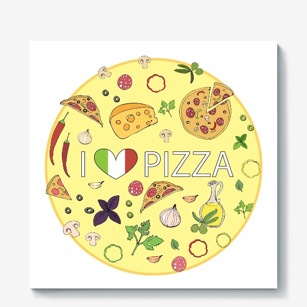 Холст «Итальянская пицца»