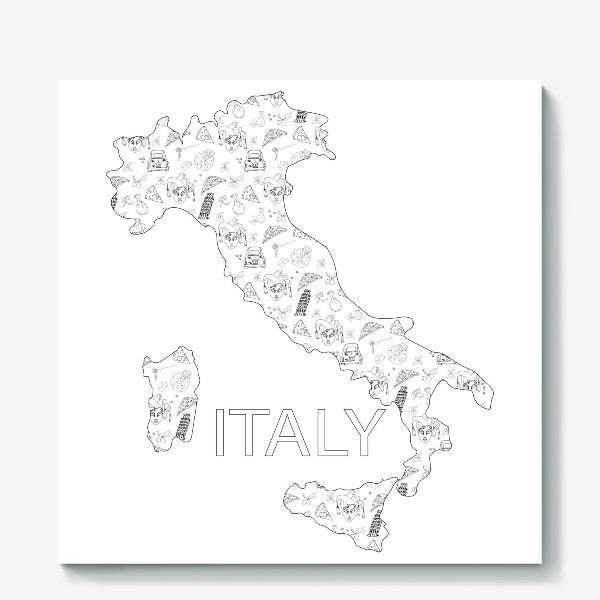 Холст «Италия карта»