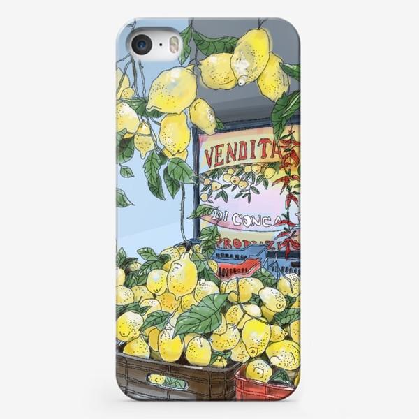 Чехол iPhone «Итальянские лимоны(цвет)»