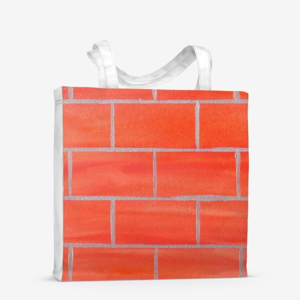 Сумка-шоппер «кирпичная стена»