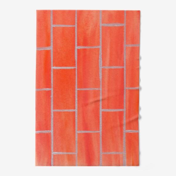 Полотенце «кирпичная стена»