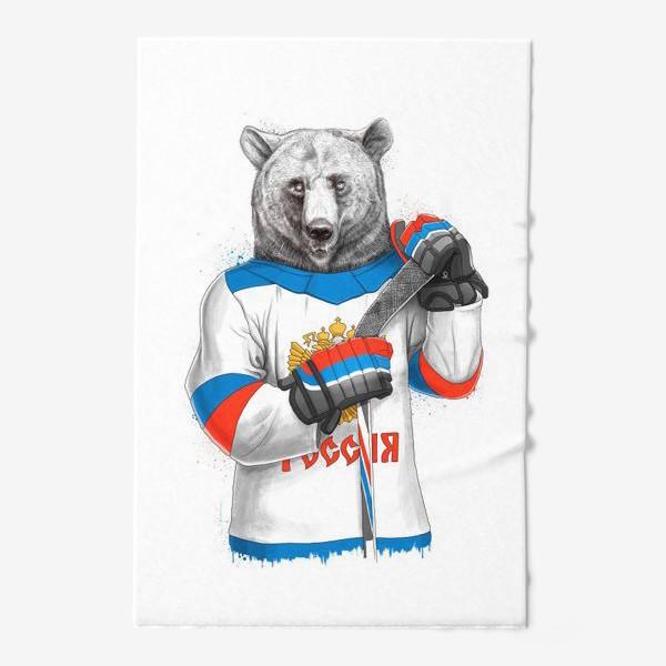 Полотенце «Медведь Хоккеист»