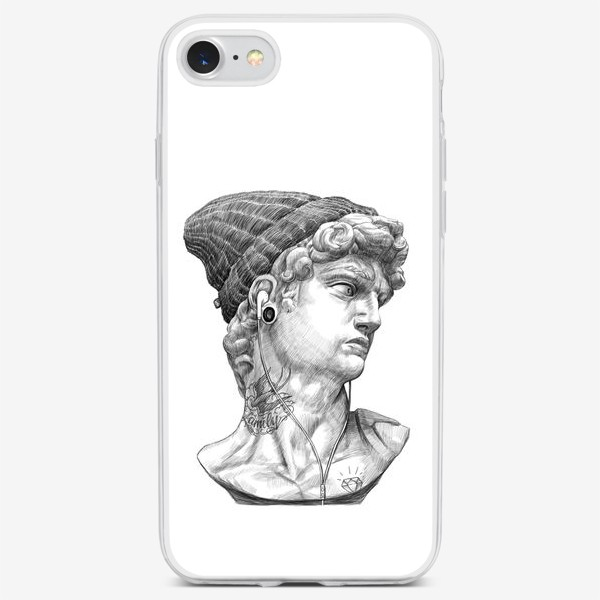 Чехол iPhone «Бюст Давида»