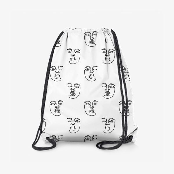 Рюкзак «Паттерн с лицами»