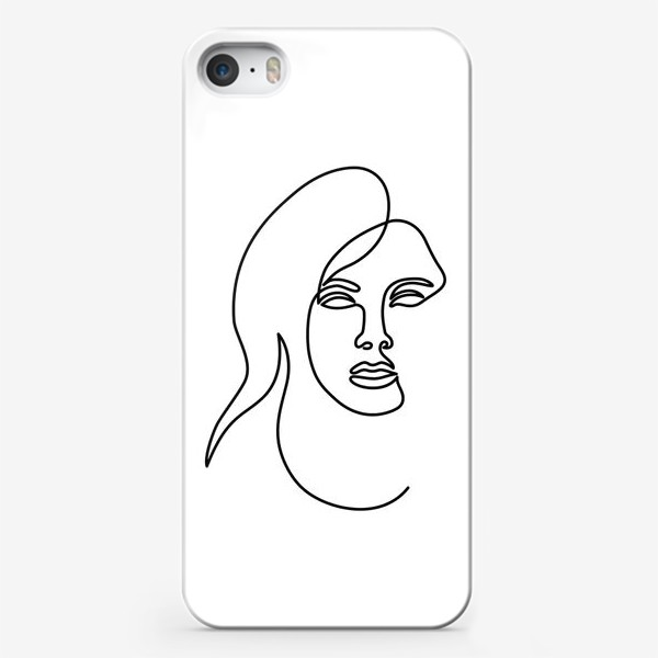 Чехол iPhone «Девушка. Одна линия»
