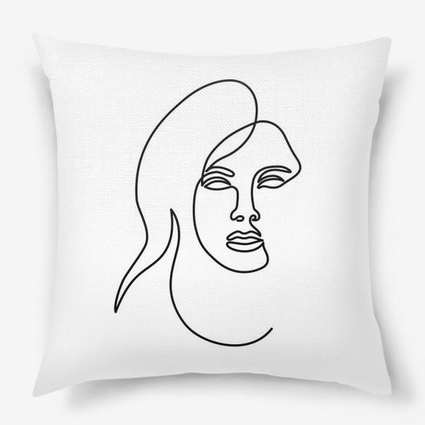 Подушка «Девушка. Одна линия»