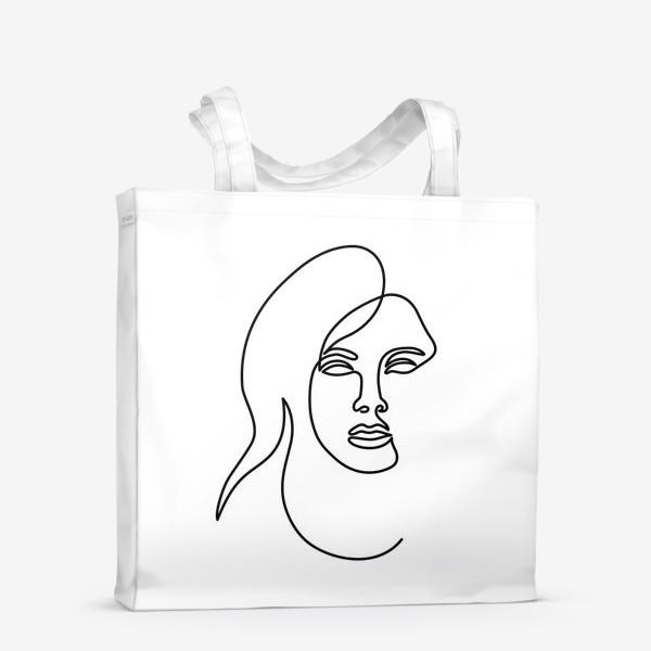 Сумка-шоппер «Девушка. Одна линия»