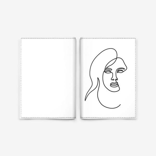 Обложка для паспорта «Девушка. Одна линия»