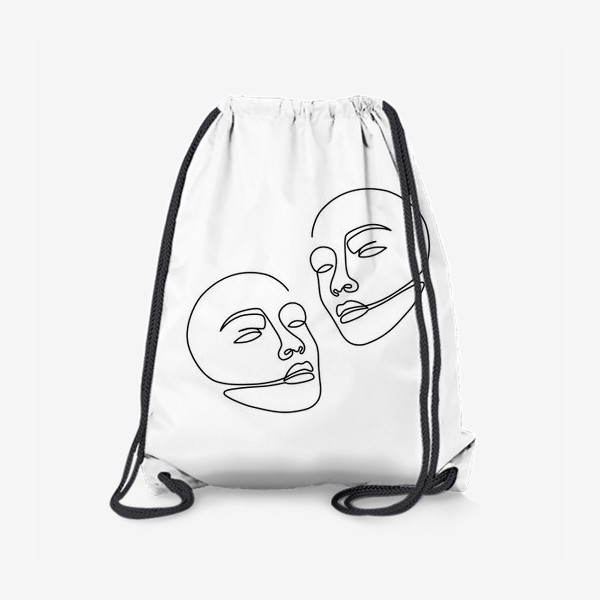 Рюкзак «Лица одной линией»