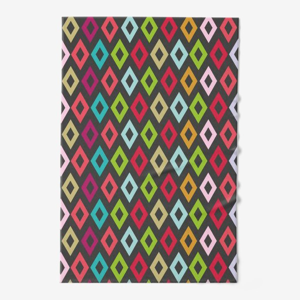 Полотенце «Цветные ромбики»