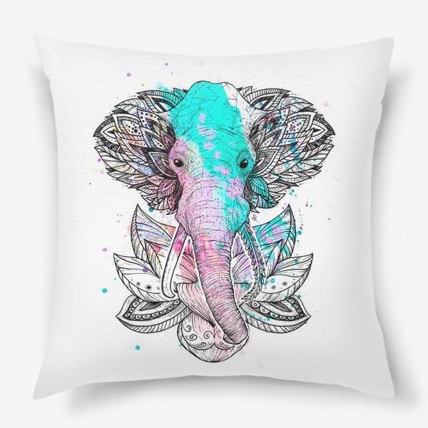Подушка «Слон в лотусе»