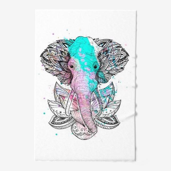 Полотенце «Слон в лотусе»