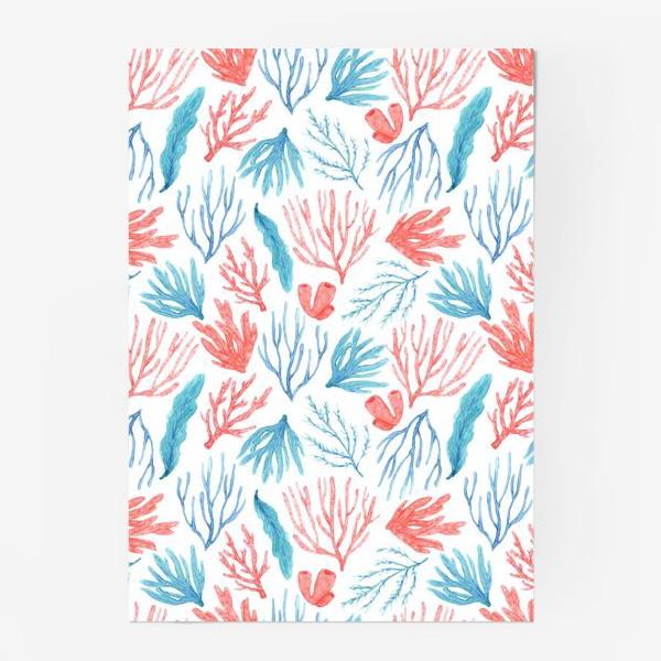 Постер «Яркие кораллы и водоросли»
