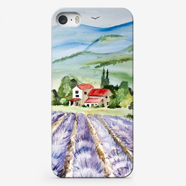 Чехол iPhone «Лавандовое поле в Провансе»
