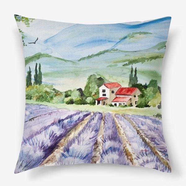 Подушка «Лавандовое поле в Провансе»