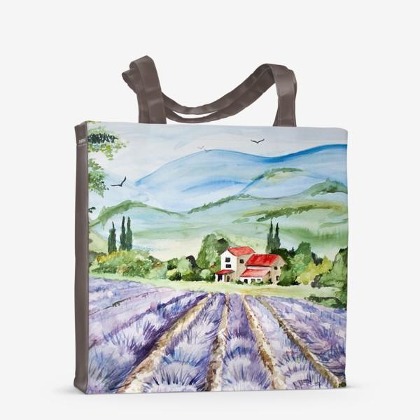 Сумка-шоппер «Лавандовое поле в Провансе»