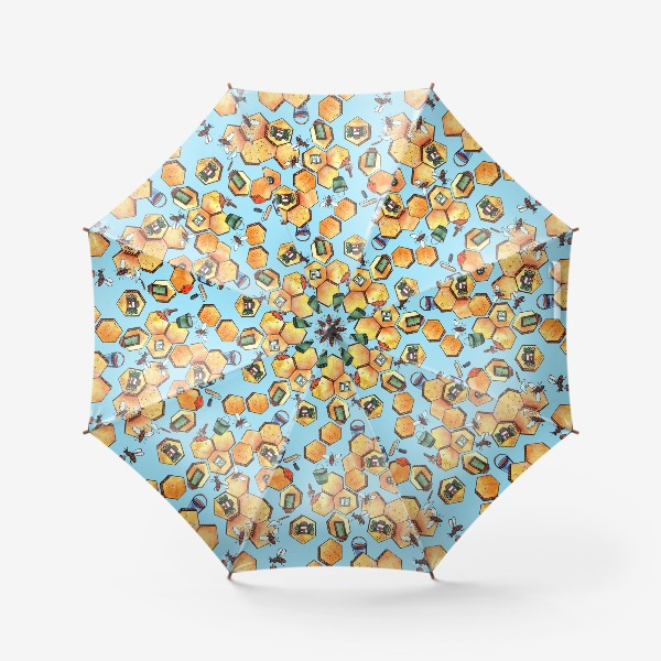 Зонт «Пчелы и соты»