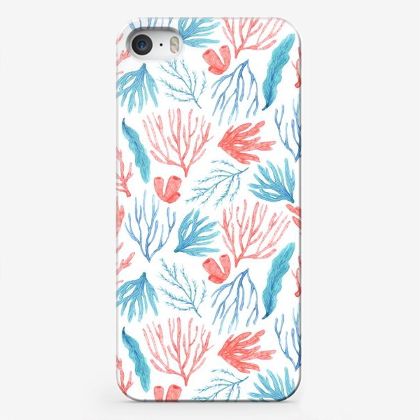 Чехол iPhone «Яркие кораллы и водоросли»