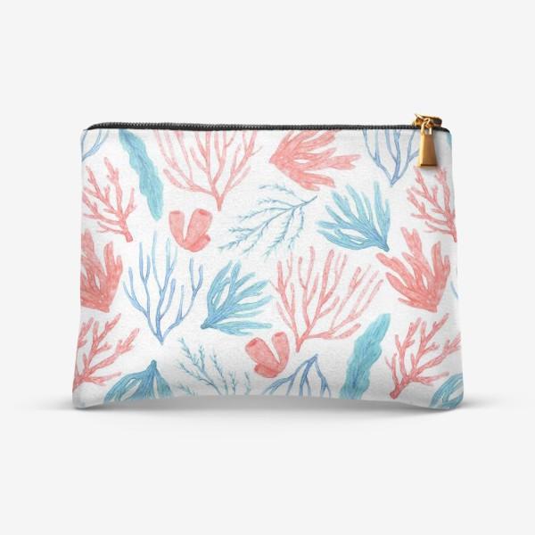 Косметичка «Яркие кораллы и водоросли»
