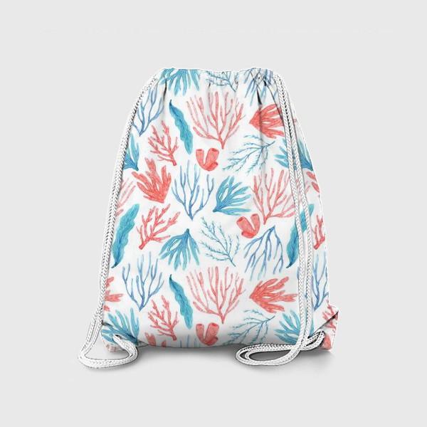 Рюкзак «Яркие кораллы и водоросли»