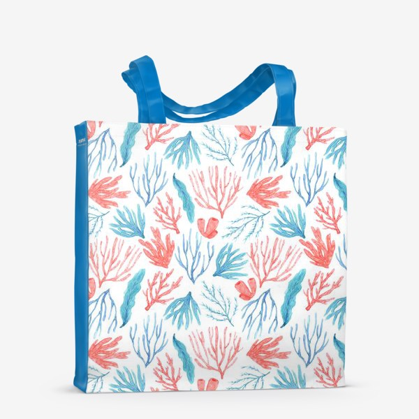 Сумка-шоппер «Яркие кораллы и водоросли»