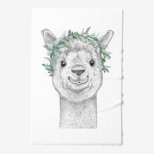 Полотенце «Альпака с венком»