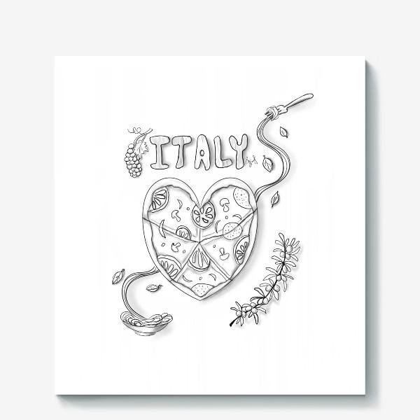 Холст «Италия (раскраска)»