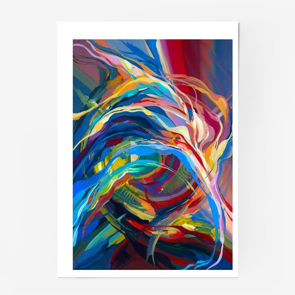 Постер «Гуашевый фон с абстрактными линиями»