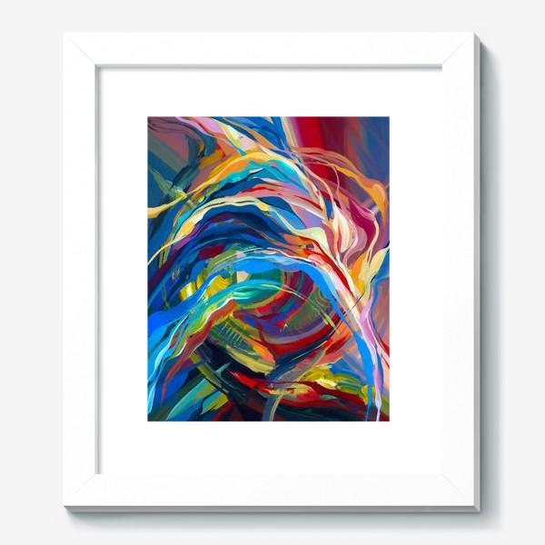 Картина «Гуашевый фон с абстрактными линиями»
