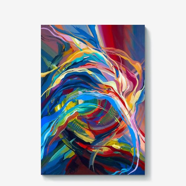 Холст «Гуашевый фон с абстрактными линиями»