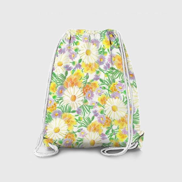 Рюкзак «Ромашки и полевые цветы. Пастель»