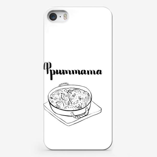 Чехол iPhone «Фриттата - итальянская кухня -раскраска»